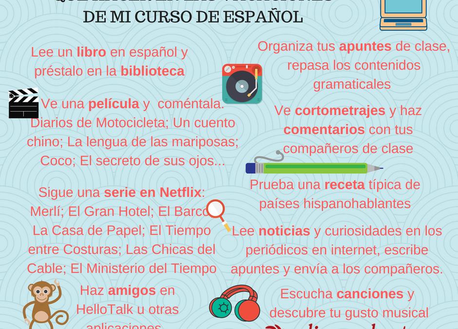 Qué hacer en las vacaciones de mi curso de español